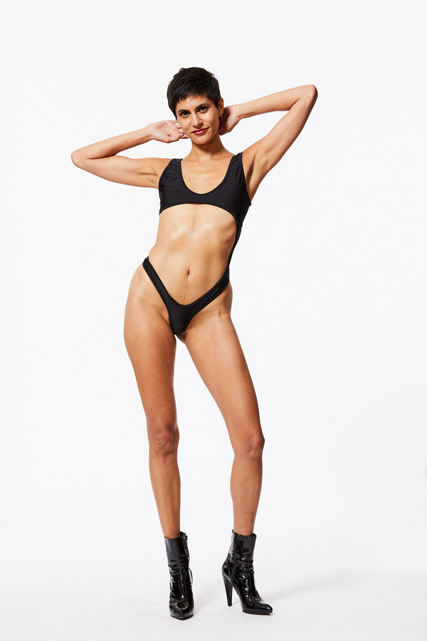 FLOSSY SWIMSUIT IN BLACK SAND