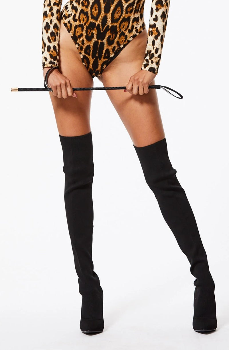 GET CRACKING FAUX LEATHER TOY RIDING CROP