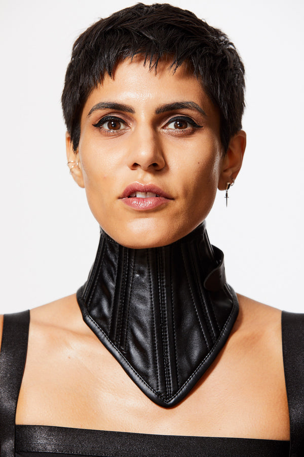 HEAD HELD HIGH FAUX LEATHER BELTED CHOKER