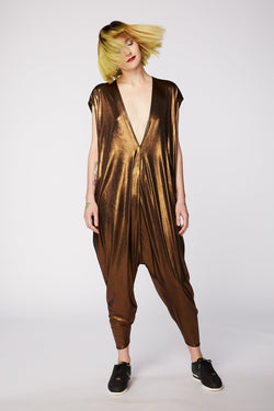 LIQUID BRONZE PLAYSUIT