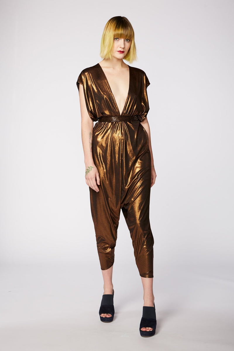 LIQUID BRONZE JUMPSUIT
