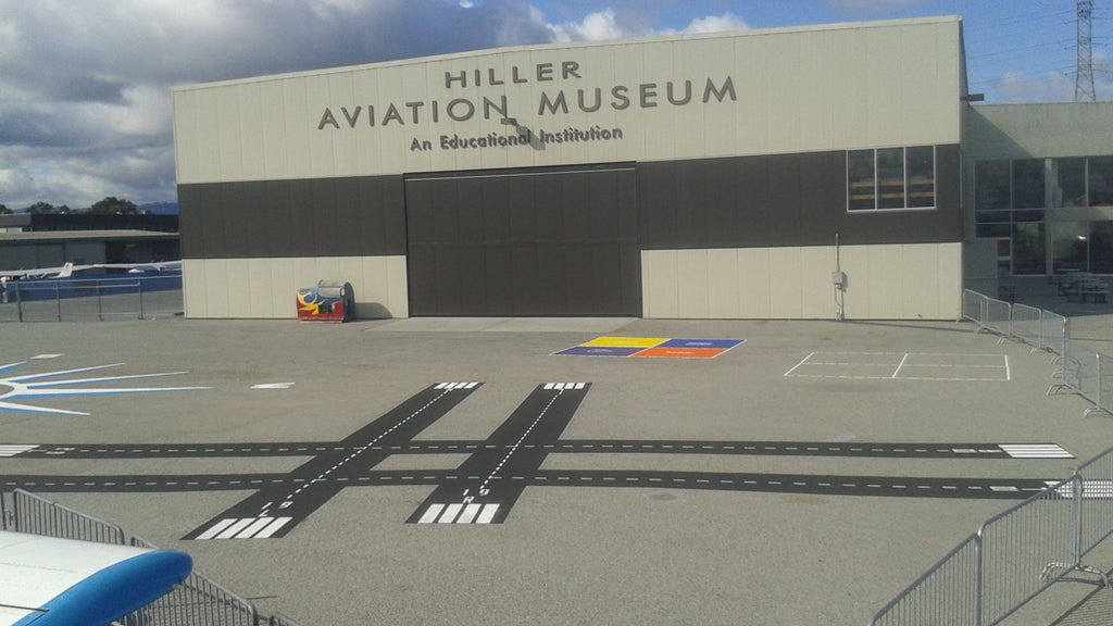 Kids Fly To New Heights With Custom Stencils At Hiller Aviation Museum
