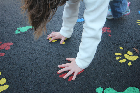 a child engaging in sensory play