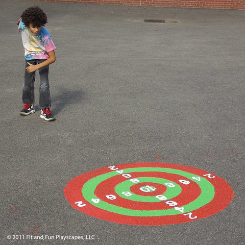 Bullseye Reusable Stencil by Fit and Fun Playscapes