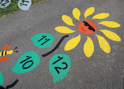 Daisy Hopscotch® Reusable Stencils - Fit and Fun Playscapes