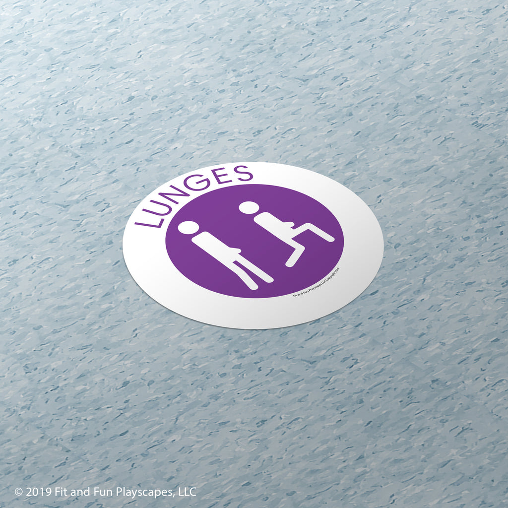 Lunges Super Sticker™ - Fit and Fun Playscapes LLC