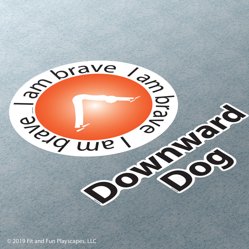 Downward Dog Super Stickers™ - Fit and Fun Playscapes LLC