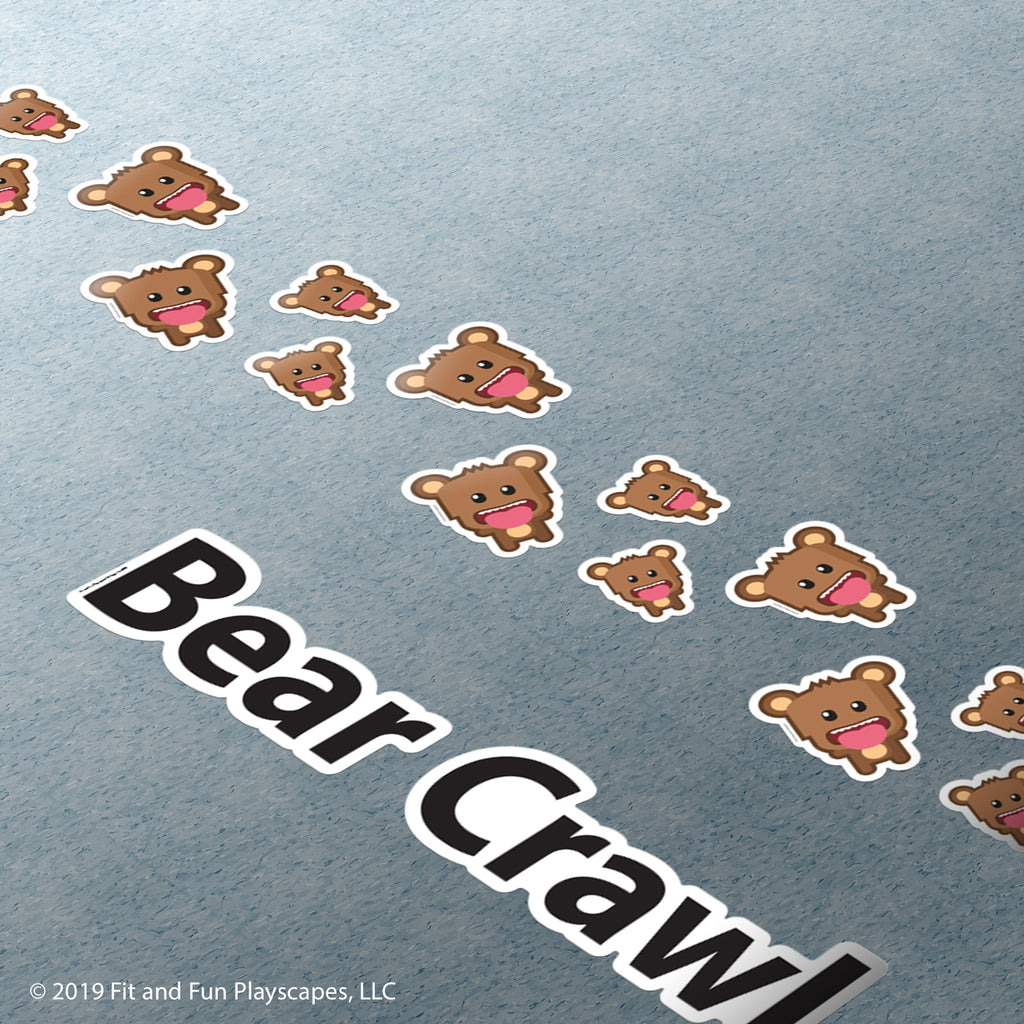 Brave Bear Crawl Super Stickers®