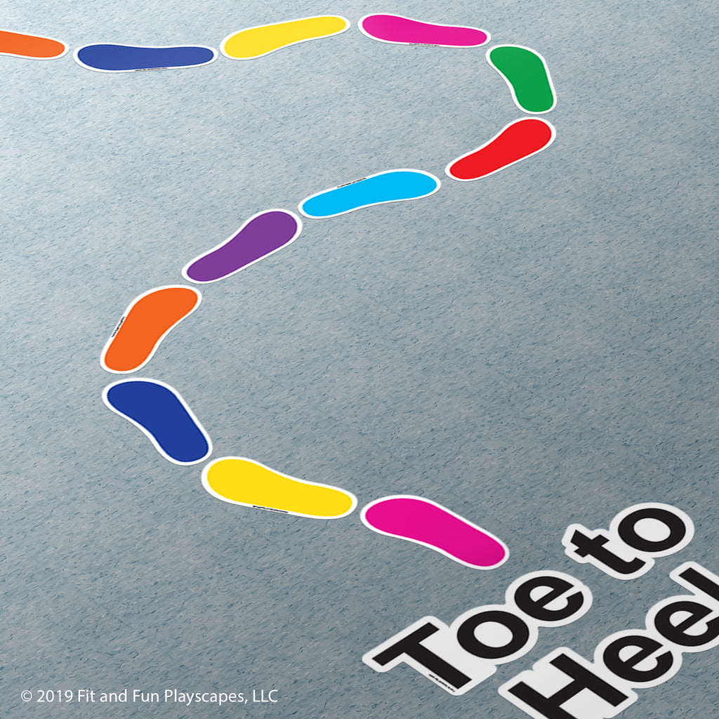 Toe-to-Heel Foot Prints Super Sticker™