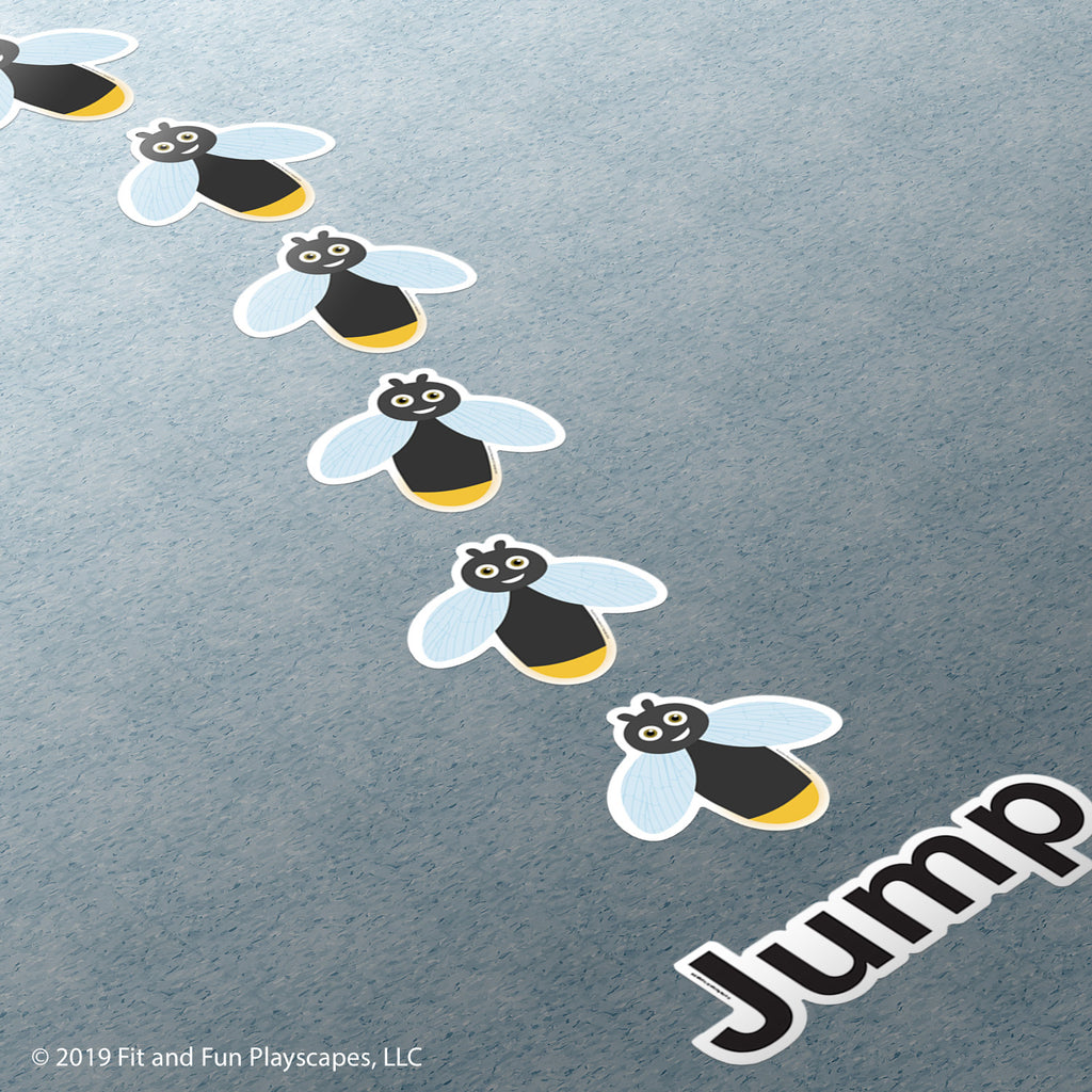 Firefly Jump Super Stickers™ - Fit and Fun Playscapes LLC