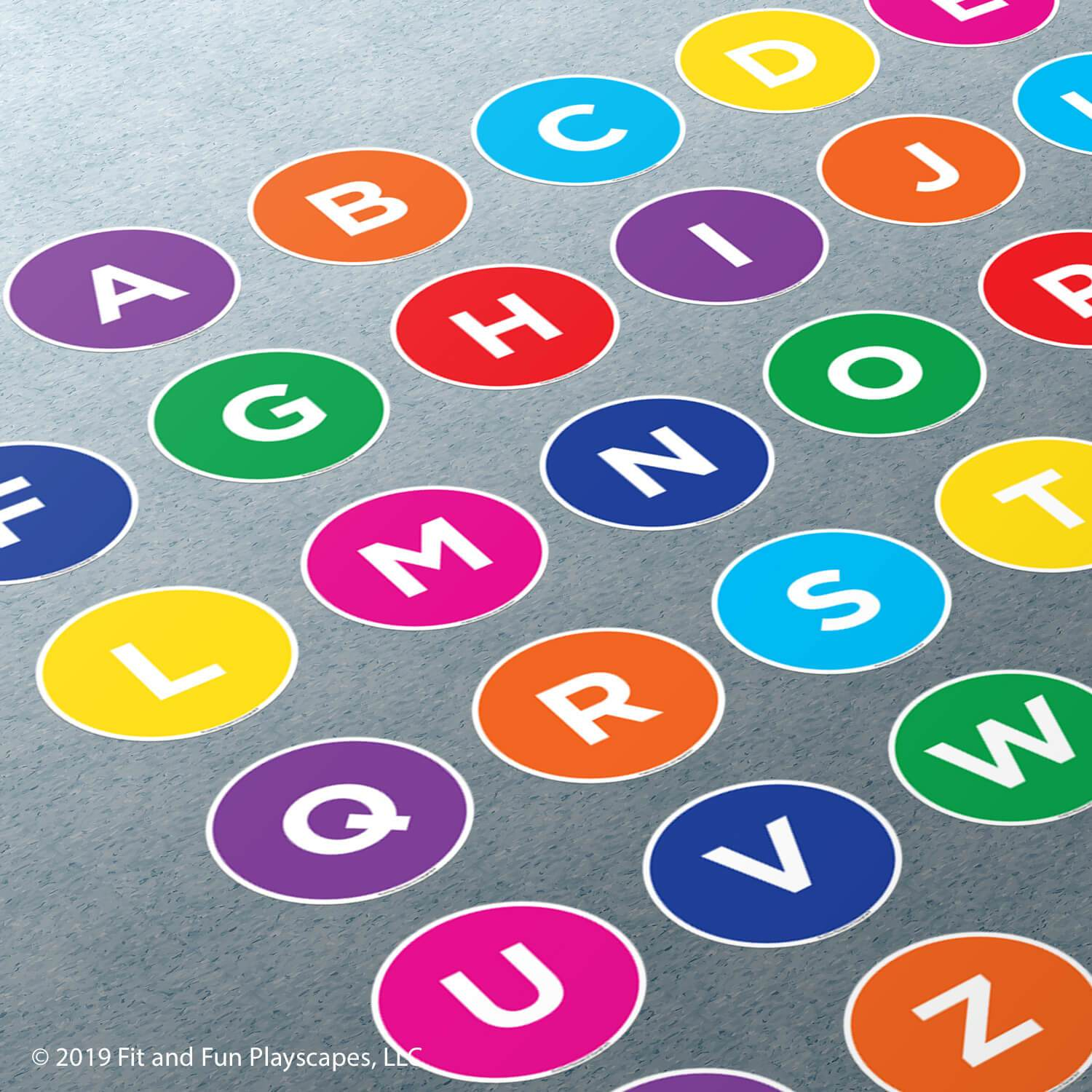 Set Adhesive Alphabet Uppercase different size and colour