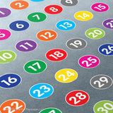 Number Set Super Stickers®