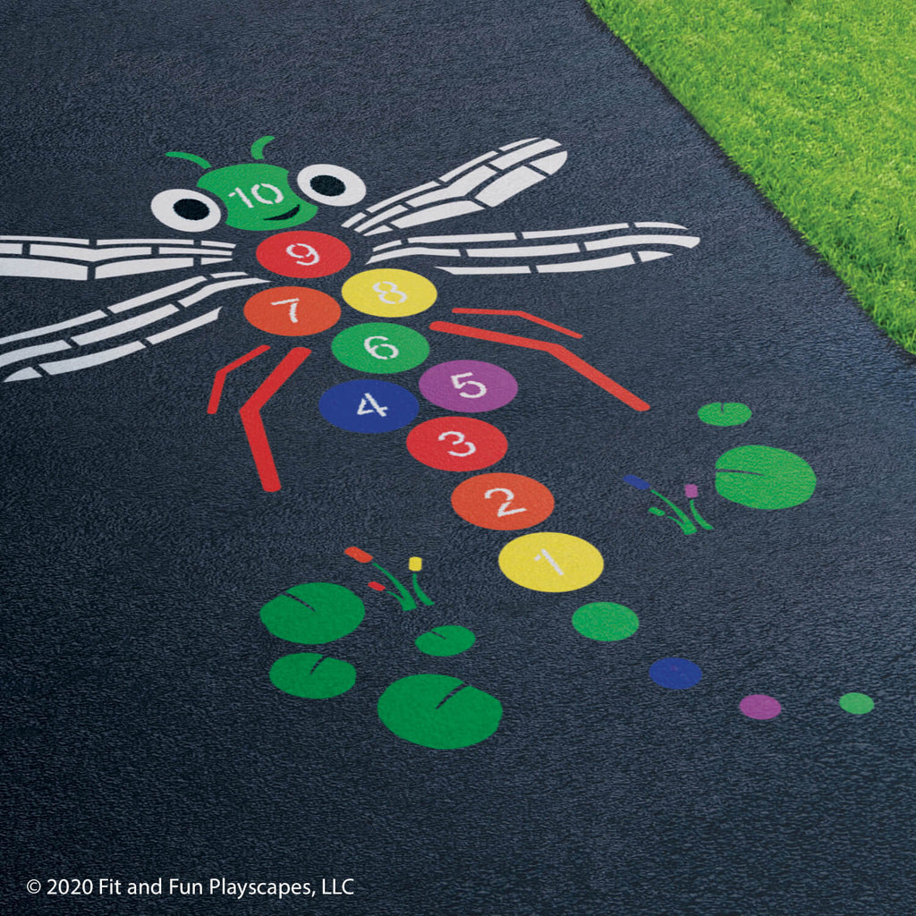 Skipadee The Dragonfly Hopscotch™ – Multicolor Paint