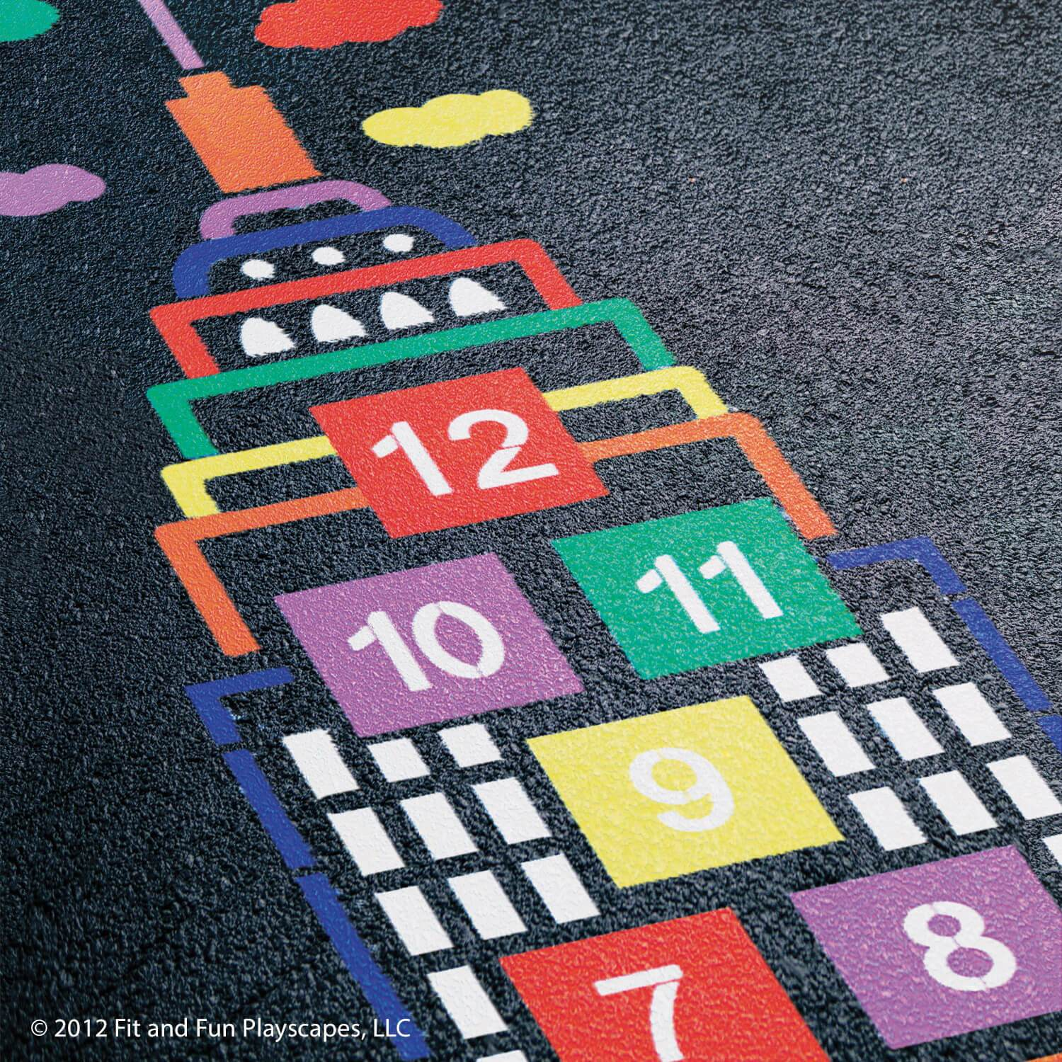 Skyscraper Hopscotch – Multicolor Paint (Outlines ONLY)
