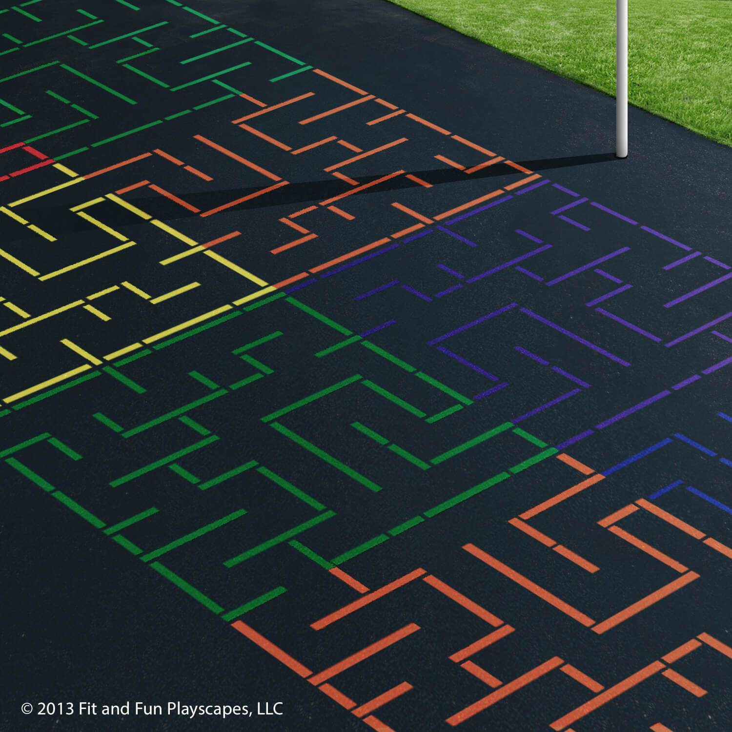 Tessellation Maze – Multicolor Paint (LARGE)