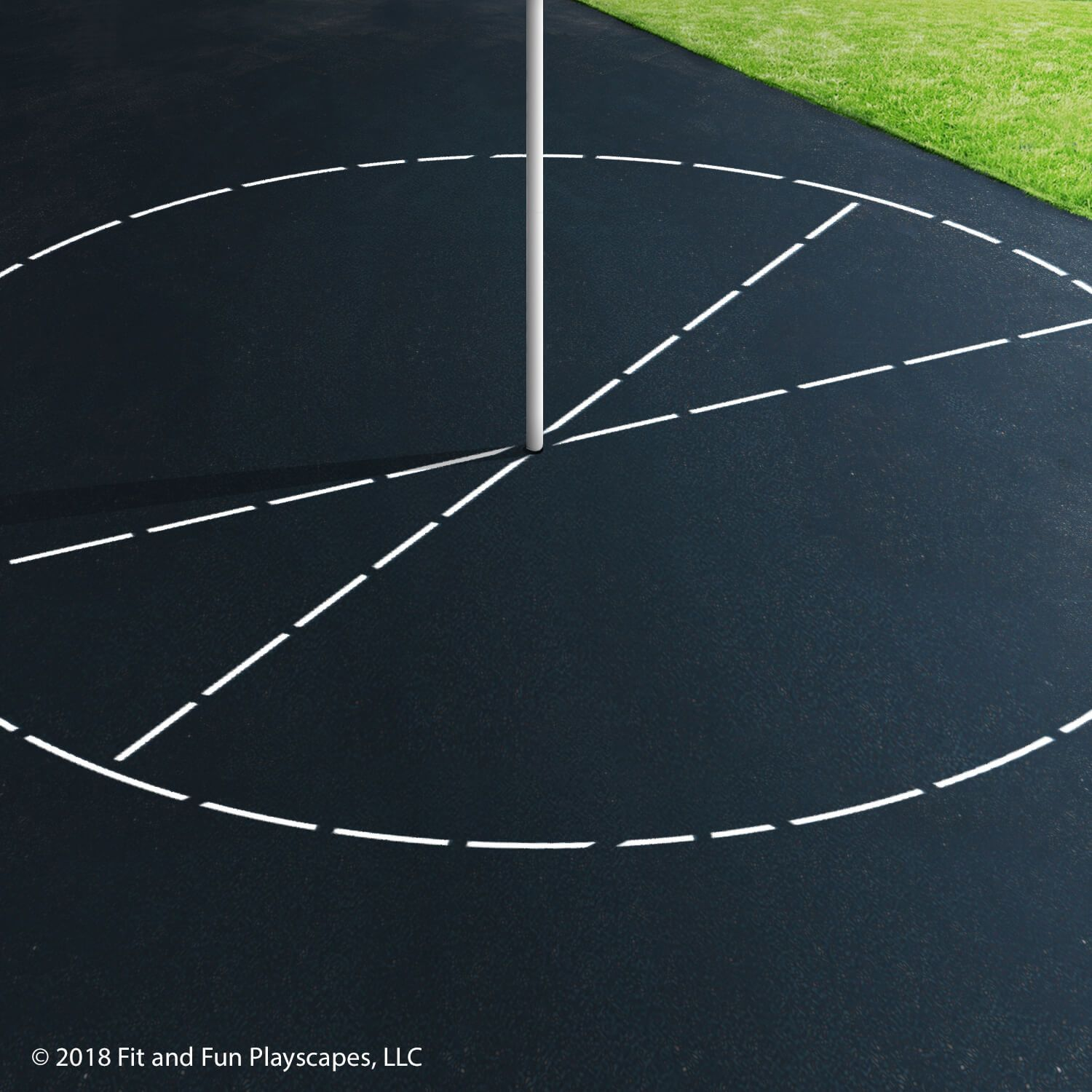 Tetherball Court – Single Color Paint
