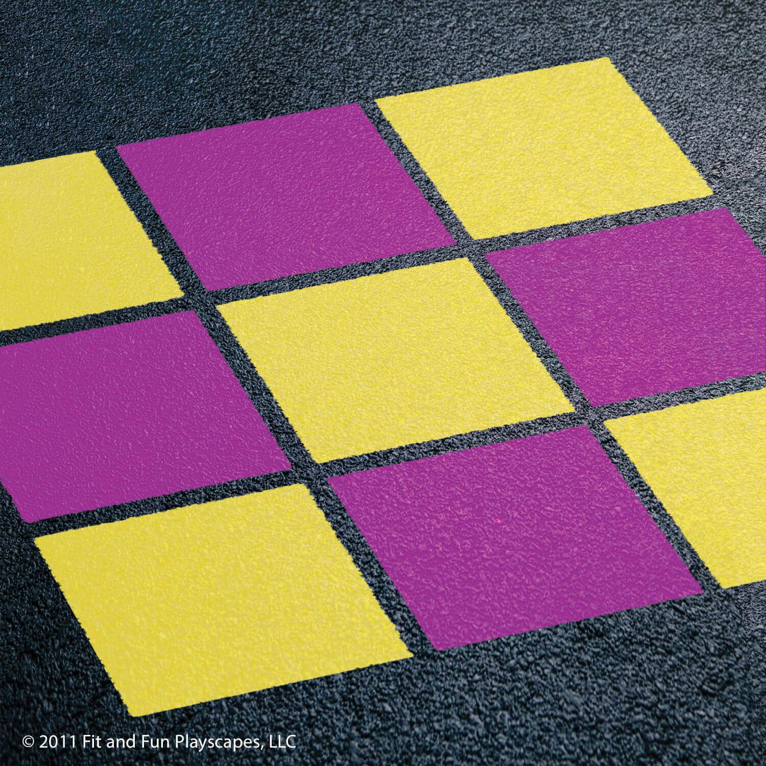Tic Tac Toe (21in squares) – Purple and Yellow Paint