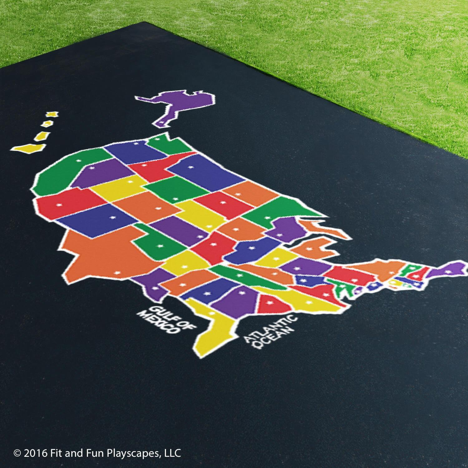 USA Map (Large) – Multicolor Paint