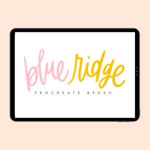 Blue Ridge Procreate Lettering Brush