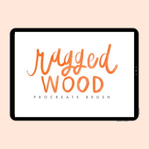 Ragged Wood Procreate Brush