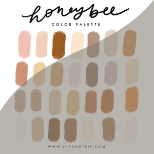 Honeybee Procreate Color Palette