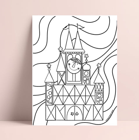 Printable Small World Coloring Page