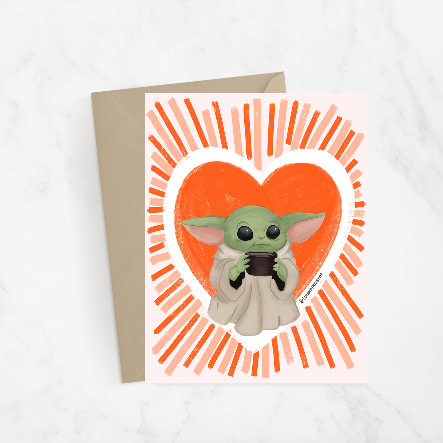 Baby Yoda Love Greeting Card