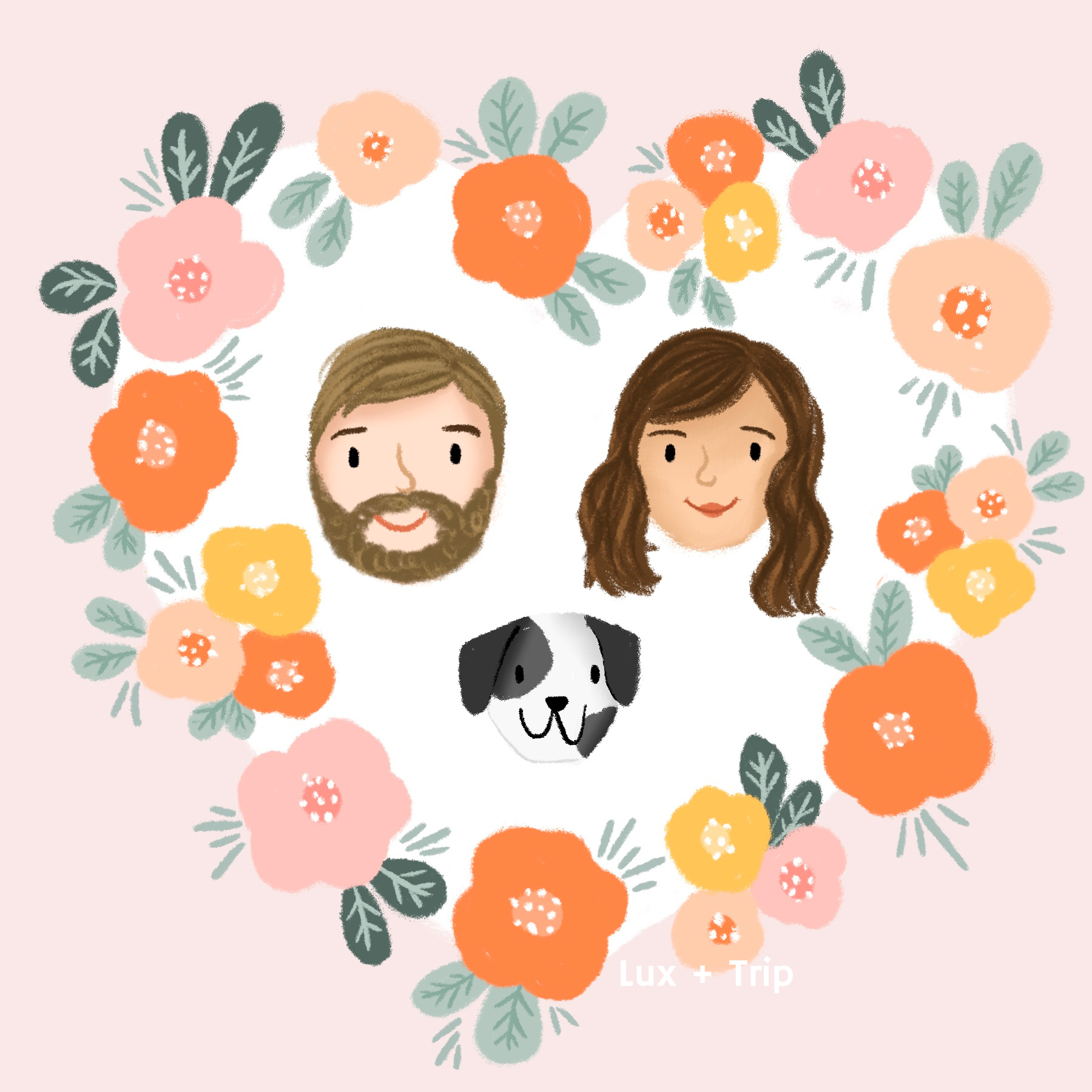 Custom Valentine's Day Quick Draw Portrait Illustration