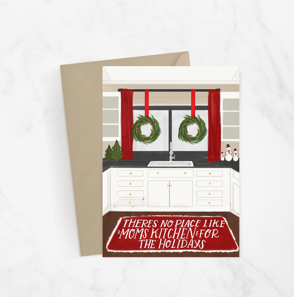 Moms Kitchen Holiday Greeting Card