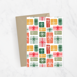 Present Pattern Greeting Card