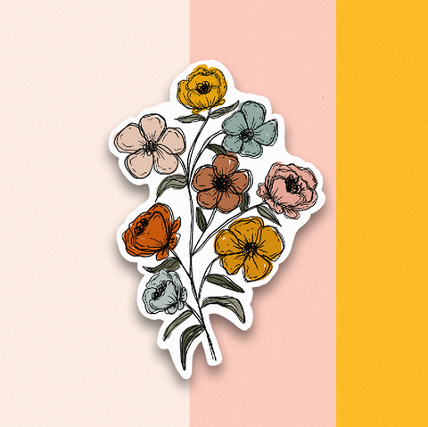 Floral Bunch Sticker