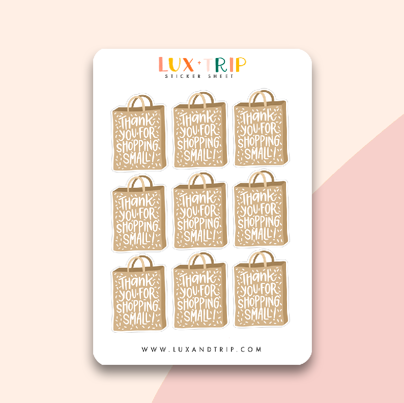 Thanks For Shopping Small Sticker Sheet