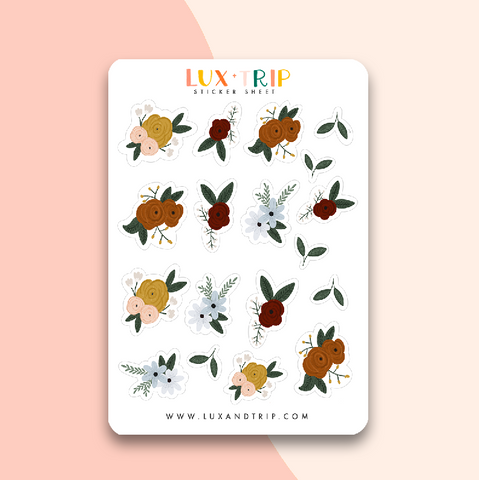 Dark Florals Sticker Sheet