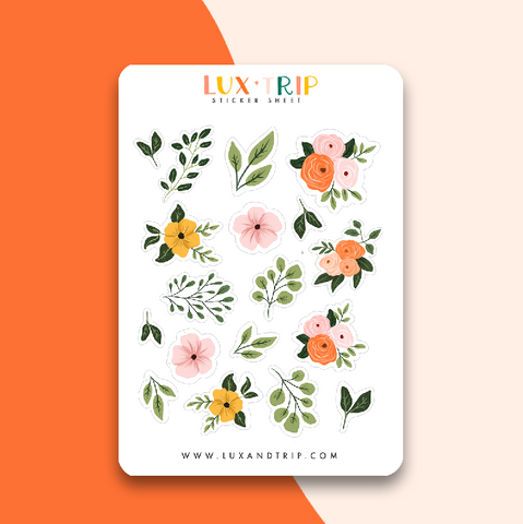 Light Florals Sticker Sheet