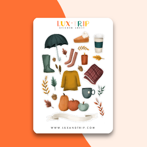 Fall Essentials Sticker Sheet