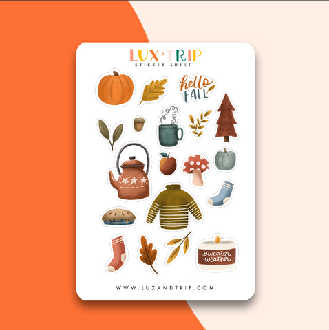 Fall Things Sticker Sheet