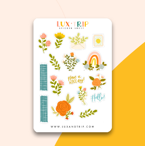 Bujo Florals Sticker Sheet