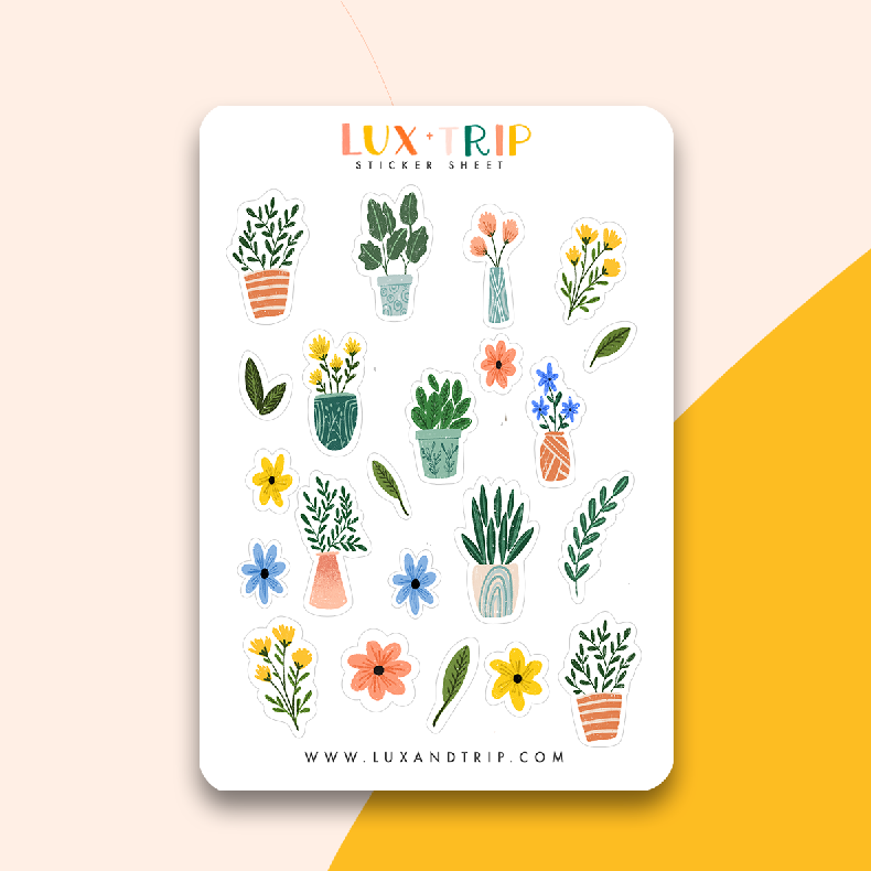 Potted Plant Sticker Sheet