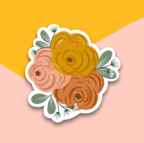 Warm Floral Sticker