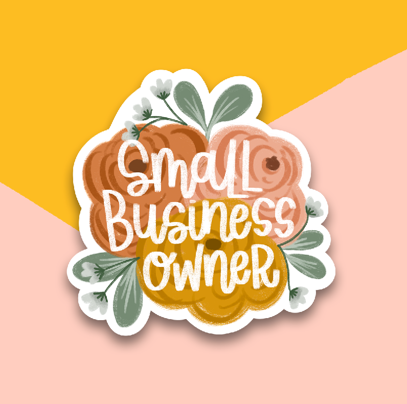 Small Business Owner Floral Sticker