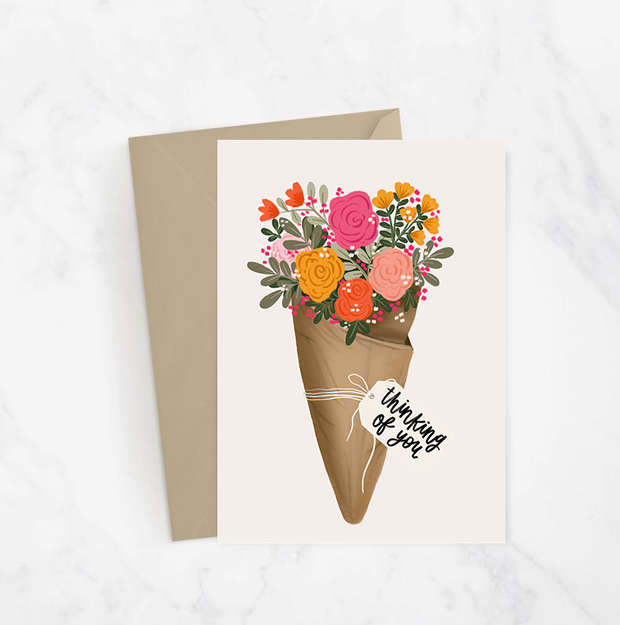 Thinking Of You Floral Bouquet Card 1