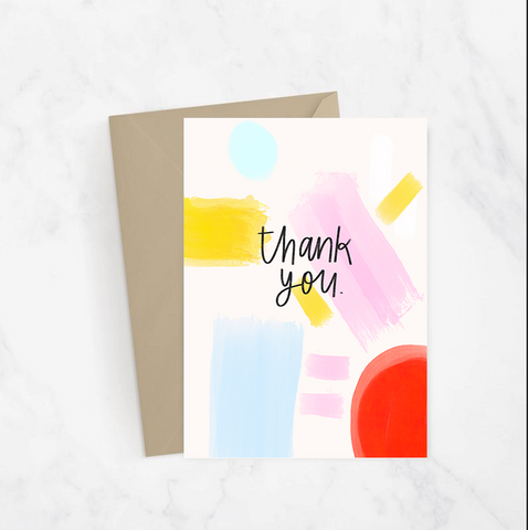 Thank You Abstract Card