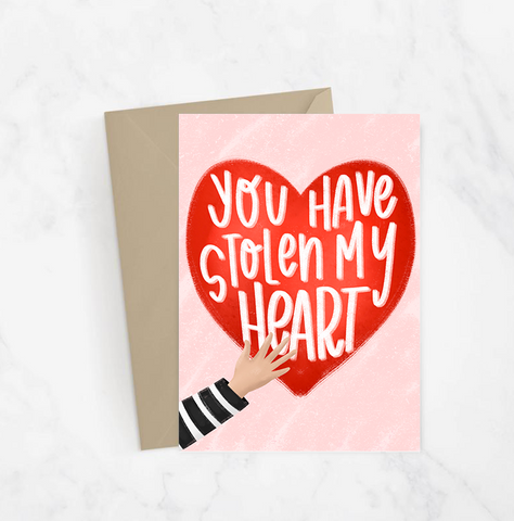 Stolen My Heart Greeting Card