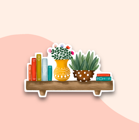 Happy Shelf Sticker