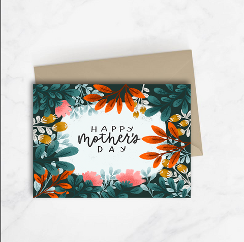 Happy Mother's Day Dark Foliage Card