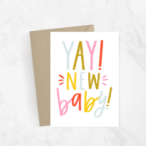 Yay! New Baby! Greeting Card