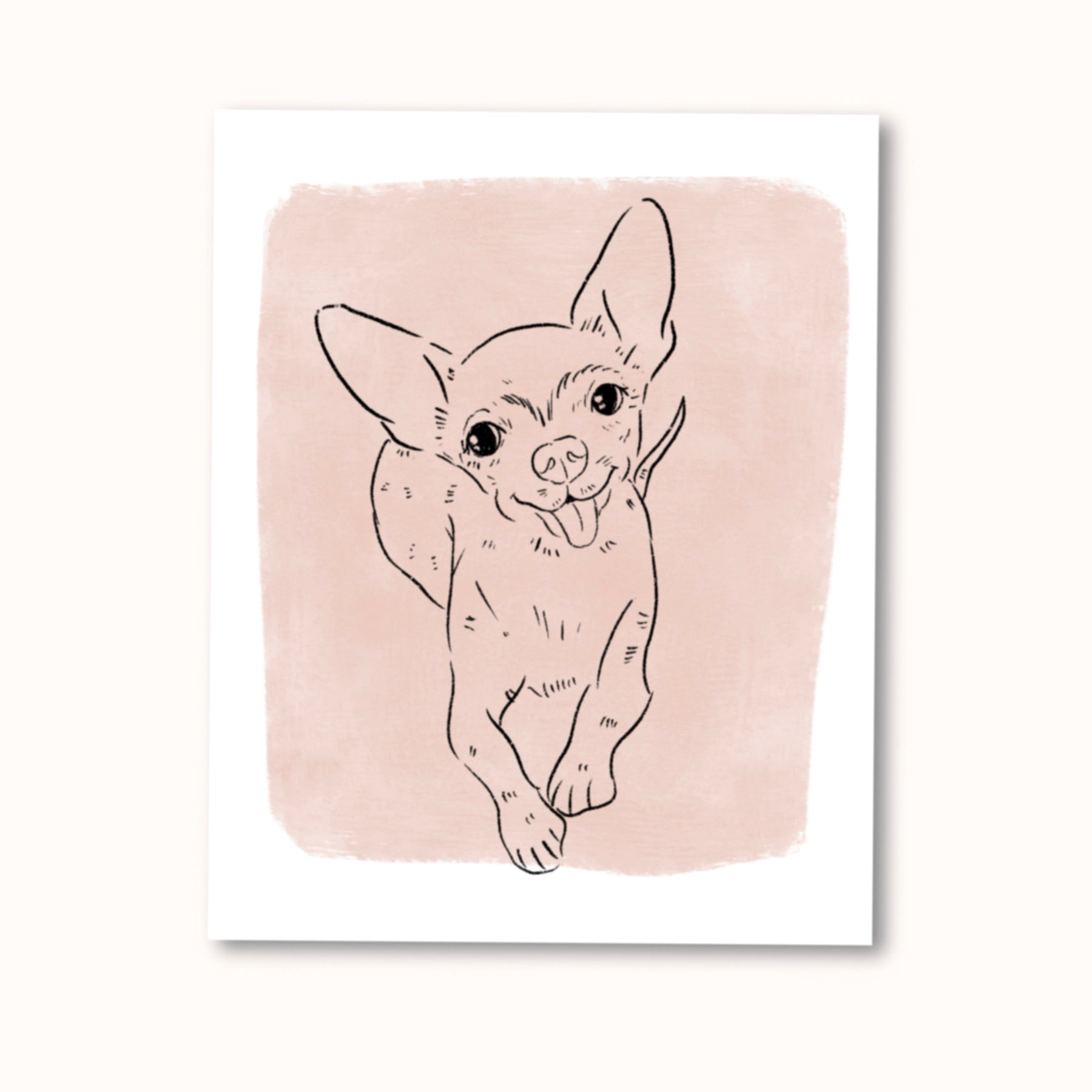 Outline Custom Pet Portrait