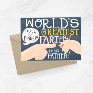 World's Greatest Farter Greeting Card