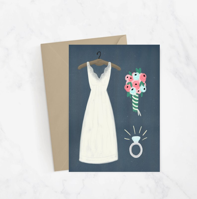 Wedding Details Greeting Card