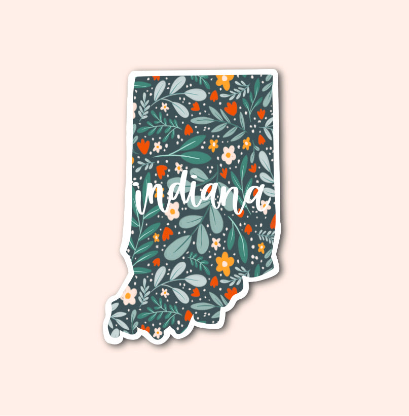 Indiana Floral Pattern Sticker